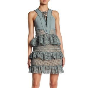 NWT Romeo & Juliet Couture sage cocktail dress, M